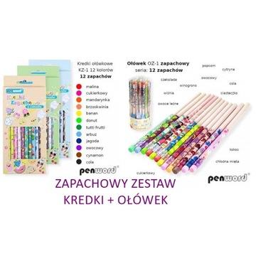Kredki ołówkowe 12kol. ZAPACHOWE +ołówek ZAPACHOWY