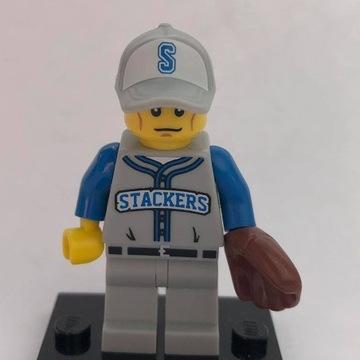Lego figurka minifigure Baseballista