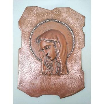 Matka Boża Maryjka Miedź Kapliczka Antyk Włochy