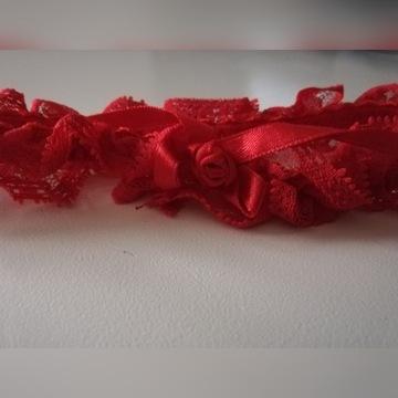 Podwiązka czerwona