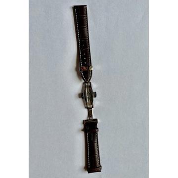Pasek do zegarka 20mm skórzany brązowy Nowy