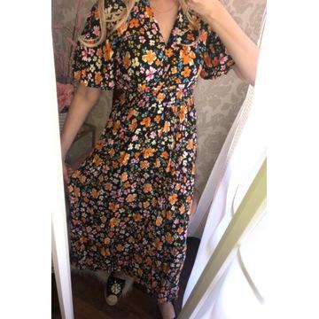 Cudo sukienka maxi kwiaty boho styl LV zara cc !