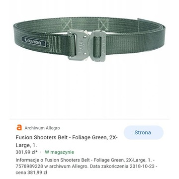 Pas Fusion Tactitacl Shooters Belt Cobra