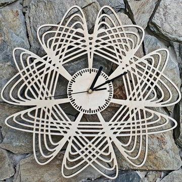 Drewniany zegar ścienny. LOFT. Ręcznie robiony.