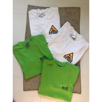 4x t-shirt podkoszulek koszulka męska S basic bawe