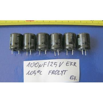 kondensatory  100uF/25V EKR