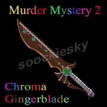ROBLOX Murder Mystery 2 Chroma Gingerblade