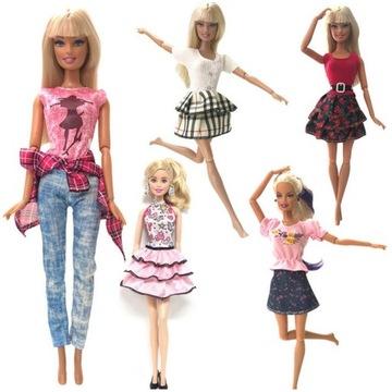 Ubranka dla lalki Barbie 5 kompletów wysoka jakość