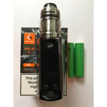 E papieros Wismec rx gen3 dual i Zeus X RTA