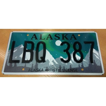 tablica rejestracyjna Alaska USA oryginalna nowa