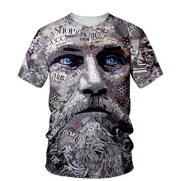 Koszulka t shirt graficzny z twarzą kolory