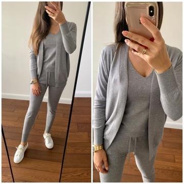 Dresy damskie M/L sweterkowe 3 częściowe wiskoza
