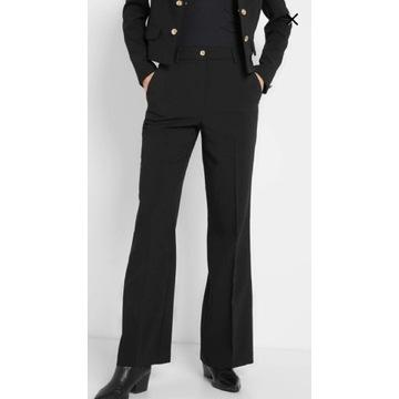 Spodnie damskie czarne dzwony r.38 M Orsay