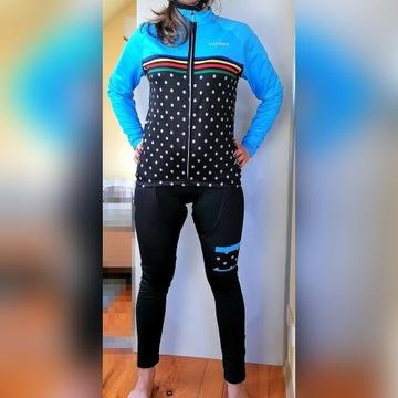 Strój rowerowy, spodnie i bluza