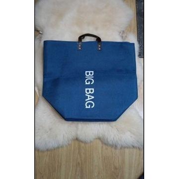 Ogromna niebieska torba 50x58 cm
