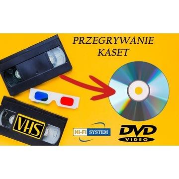 Przegrywanie kaset VHS wideo Digitalizacja na DVD