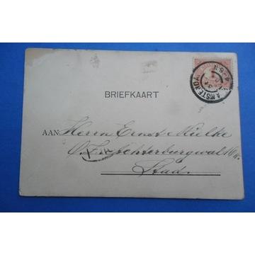 Pocztówka XIXw około 1898r.Amsterdam stempel