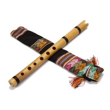 Quena indiański flet z bambusa Peru tonacja E moll