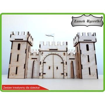 Zamek drewniany - klocki 3d - kreatywna zabawa !!