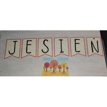 Napis JESIEŃ - dekoracja Przedszkole