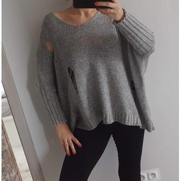 Piękny Luźny Akrylowy Sweter Damski H&M r. L 40