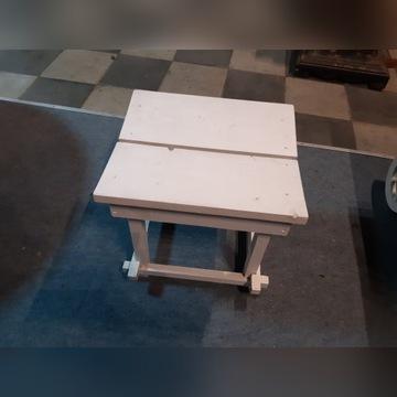 stołek, taboret, stolik biały