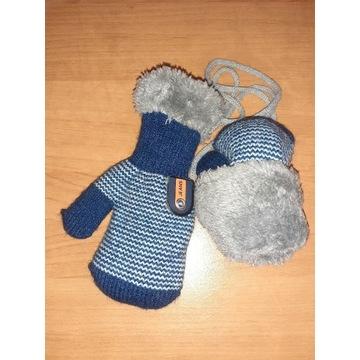 Nowe rękawiczki chłopięce jednopalczaste GRUBE