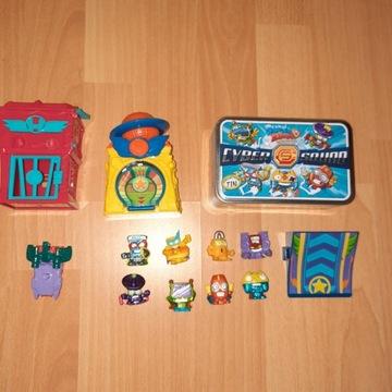 Super Zings 8 zingsów+pudełko+ 2 domki
