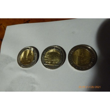 Monety 5złx3 ,2złx13szt komplet