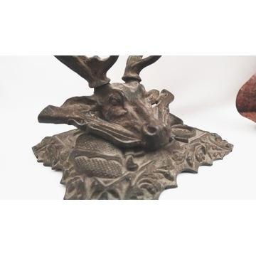 Podstawa na pióro w kształcie trofeum 19 wiek