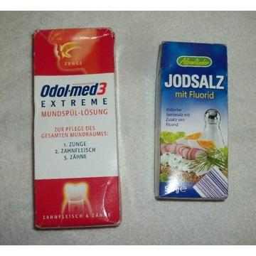 Płyn do ust i Sól + Jod + Fluor - takie z Niemiec.