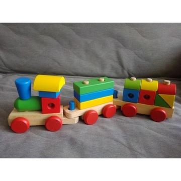 Pociąg drewniany