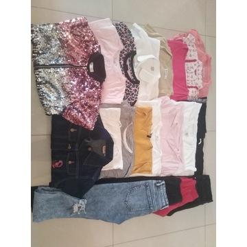 Zestaw ubrań dla dziewczynki rozmiar 152, 19 sztuk