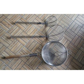 Cedzaki siatkowe 16cm i 20cm + sito z siatką 30cm