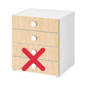 IKEA Fronty szuflad Folja 60x16cm 2 sztuki Stuva