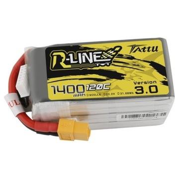 Akumulator Tattu R-Line 3.0 1400mAh 22.2V 120C 6S1