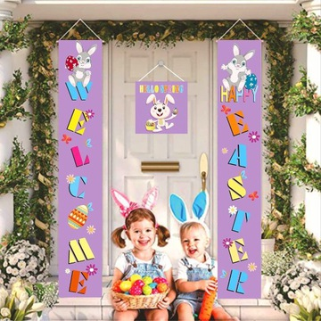 Baner Wielkanocny 3 sztuki w zestawie