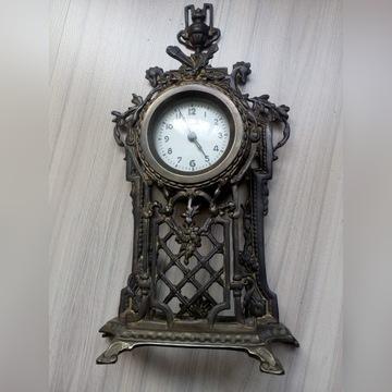 Zegar kominkowy mosiężny