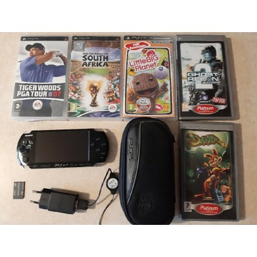 Konsola PSP 3003 + gry + etui