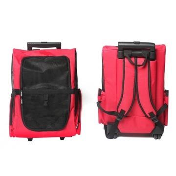 Plecak torba transporter dla psa kota na kółkach
