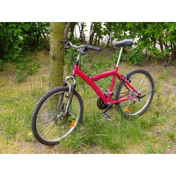 """Rower koła 24"""" czerwony  górski góral MTB hardtail"""