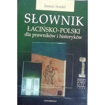 SONDEL J. Słownik łacińsko-polski dla prawników.