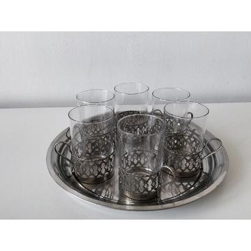 Koszyczki uchwyty na szklanki z tacą (9)