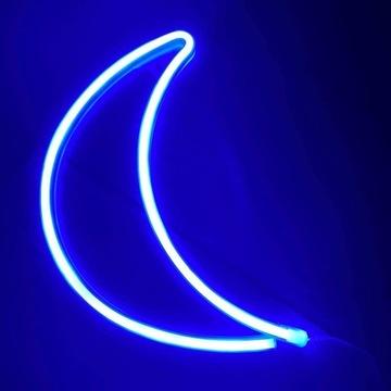 Neon LED Księżyc, super prezent, lampka dla dzieci