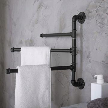 Uchwyt wieszak łazienkowy na ręczniki industrialny