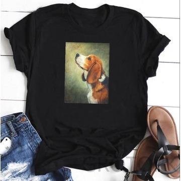 Koszulka t-shirt bluzka pies Beagle lato S-XXL