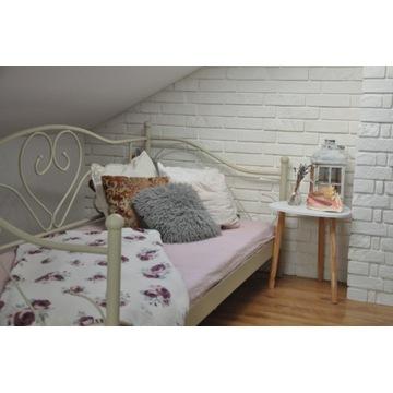 Łóżko RINGE Jysk 90x200 cm kremowe. Komplet
