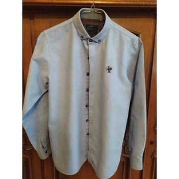 Bluzka Koszulowa Niebieska