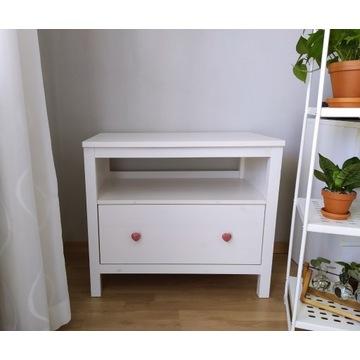 Komoda, szafka, drewniana - biała