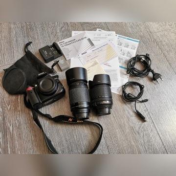 Nikon D5000+AF-S 18-105+AF 70-300+dodatki
